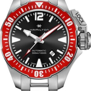 HAMILTON herenhorloge Model KHAKI NAVY FROGMAN H77725135 (waterresistent 30 bar/300 m)