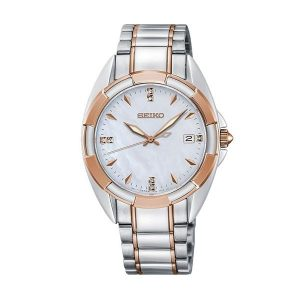 SEIKO dameshorloge model Diamond Quartz WR100M Analog Ladies Dress SKK888P1