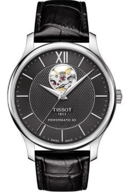 Tissot herenhorloge model Tradition Powermatic 80 Open Heart T063-907-16-058-00